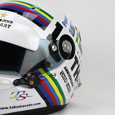 佐藤琢磨インディカー参戦10周年記念ヘルメット